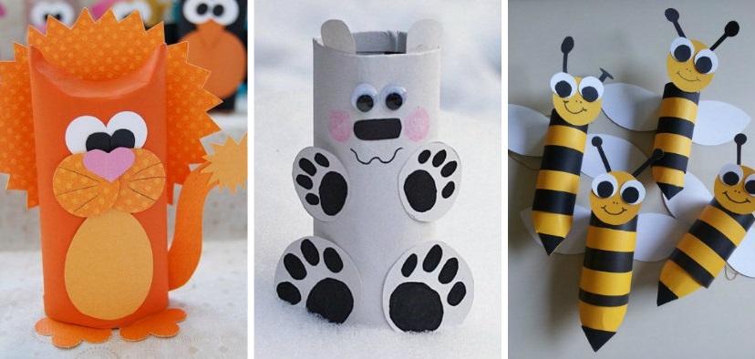 Paper Roll Craft Ideas Animal Craft Toilet Paper Rolls paper roll craft ideas |getfuncraft.com