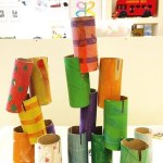 Paper Roll Craft Ideas Toddler Paper Roll Building paper roll craft ideas |getfuncraft.com