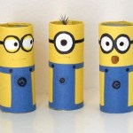 Paper Roll Craft Ideas Toilet Paper Minions paper roll craft ideas |getfuncraft.com