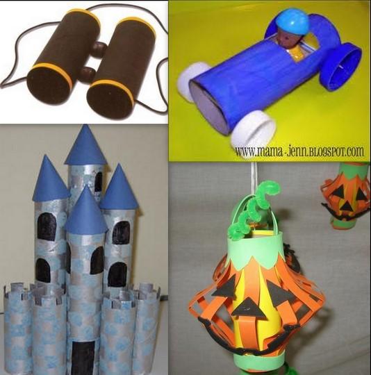 Paper Roll Craft Ideas Toilet Paper Roll Binoculars Car Castle Lantern paper roll craft ideas  getfuncraft.com