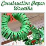 Paper Wreath Craft Construction Paper Wreaths paper wreath craft getfuncraft.com