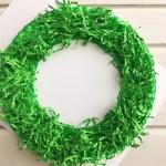 Paper Wreath Craft Diy Paper Christmas Wreath Trim Off Excess Crinkle Paper paper wreath craft getfuncraft.com