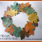 Paper Wreath Craft Fall Wreath Paper Craft For Kids paper wreath craft getfuncraft.com