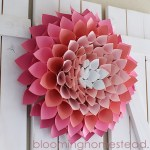 Paper Wreath Craft Paper Wreath By Blooming Homestead3 paper wreath craft getfuncraft.com