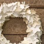Paper Wreath Craft Paper Wreath Christmas paper wreath craft getfuncraft.com