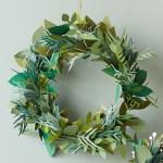 Paper Wreath Craft Papercraft Christmas Wreath Feat paper wreath craft getfuncraft.com