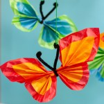 Tissue Paper Butterfly Craft Pipe Cleaner Tissue Butterfly 2 tissue paper butterfly craft|getfuncraft.com