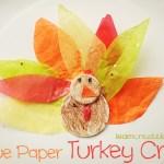 Tissue Paper Turkey Craft Crafts 084 tissue paper turkey craft |getfuncraft.com