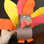 Tissue Paper Turkey Craft Paper Roll Thanksgiving Turkey Craft tissue paper turkey craft |getfuncraft.com