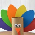 Tissue Paper Turkey Craft Paper Roll Turkey Craft tissue paper turkey craft |getfuncraft.com