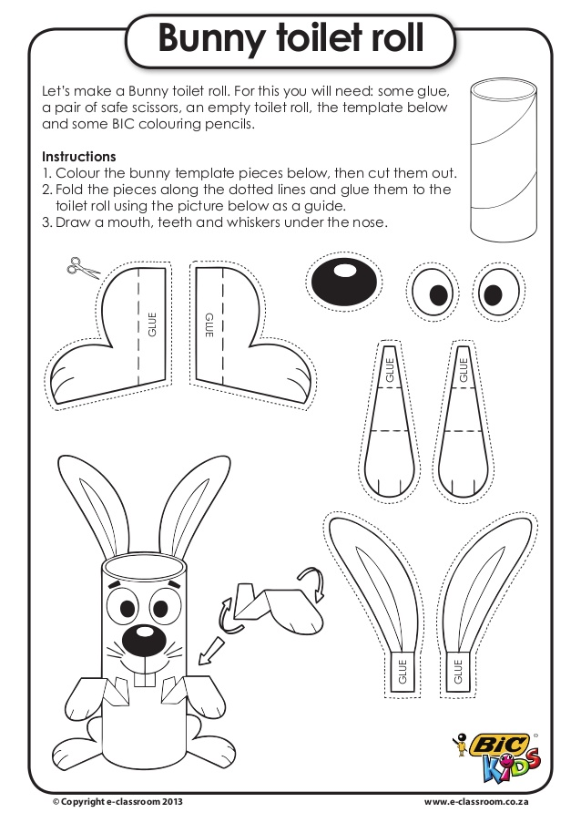 Toilet Paper Easter Bunny Craft