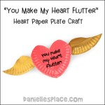 Valentine Paper Crafts Kids Heart With Wings Valentine Paper Plate Craft Pic valentine paper crafts kids|getfuncraft.com