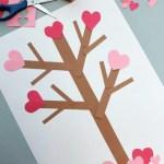 Valentine Paper Crafts Kids Valentines Day Tree Paper Craft 2