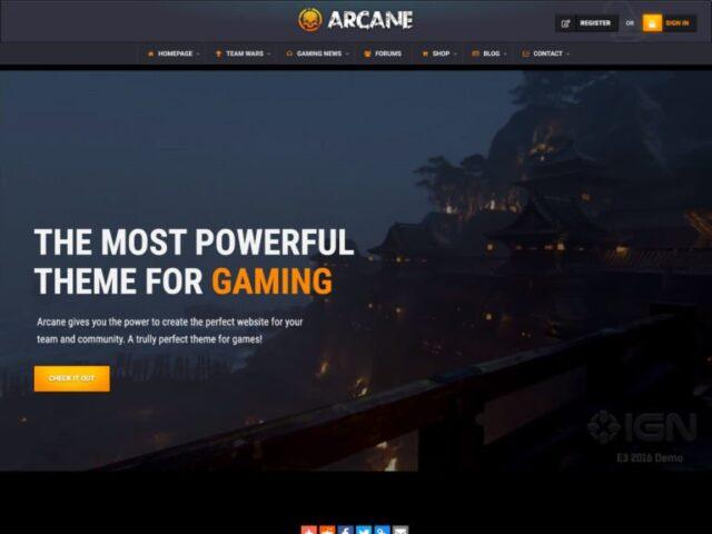 arcane gaming community wordpress theme 768x576 1