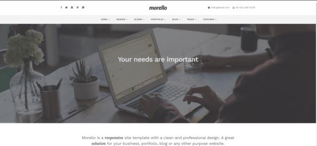 Morello – Multipurpose Business WordPress Theme by tommusrhodus