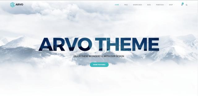 Arvo - A Clever & Flexible Multipurpose WordPress Theme