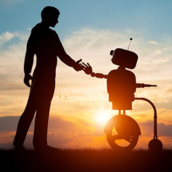 Photo of robot helper and caregiver for aging