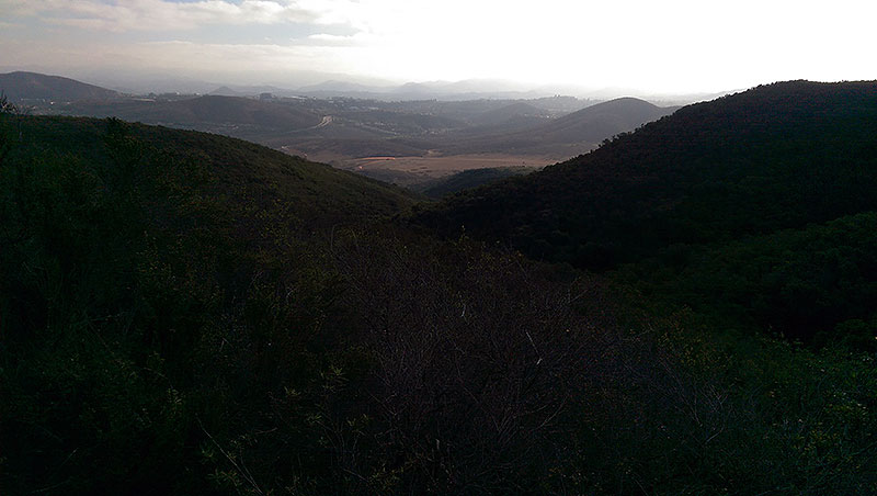 San Diego Hiking: Looking NE from Black Mountain Trail