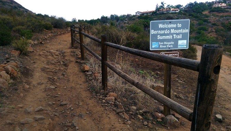 Bernardo Mountain Summit Trail Junction
