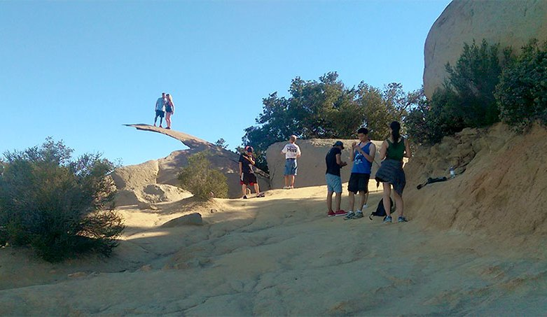 Potato Chip Rock on Mt. Woodson Summit