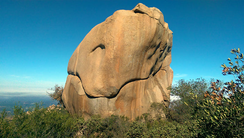 Mt. Woodson Trail Rock Formation