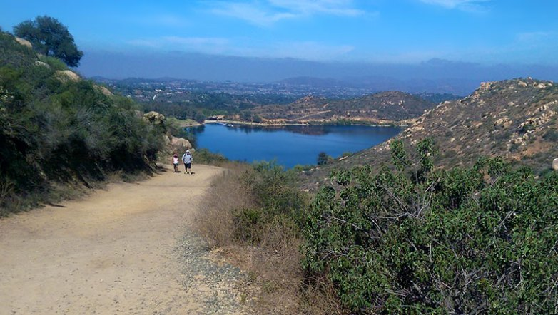 Mt. Woodson Trail view of Lake Poway