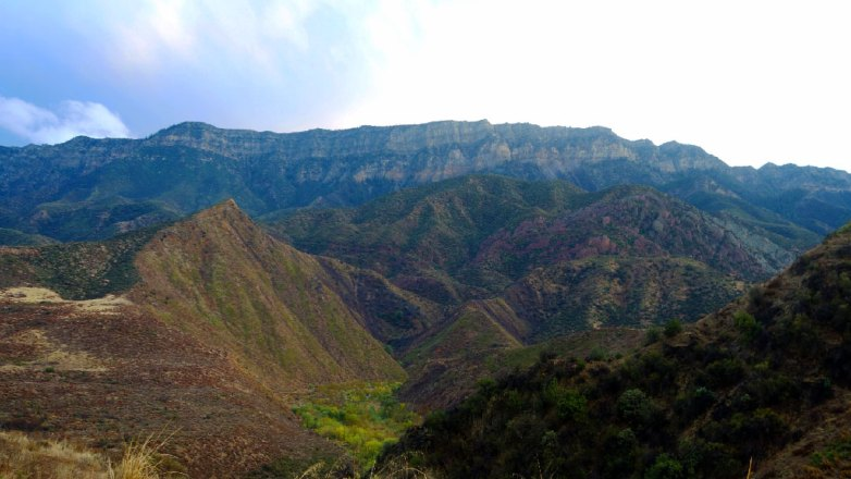 Canyon walls in Los Padres National Forest