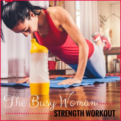 Try this quick strength workout for busy mornings when you're pressed for time.