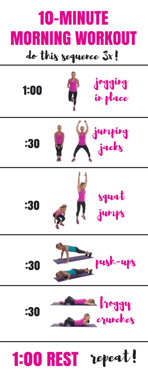 Use this 10-minute workout to jumpstart your morning.