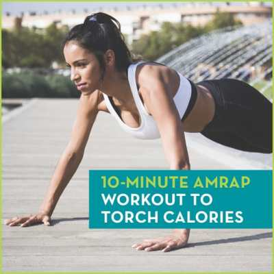 Try this AMRAP workout to torch calories.