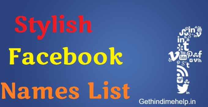 Best Stylish Name List For Facebook Boys & Girls