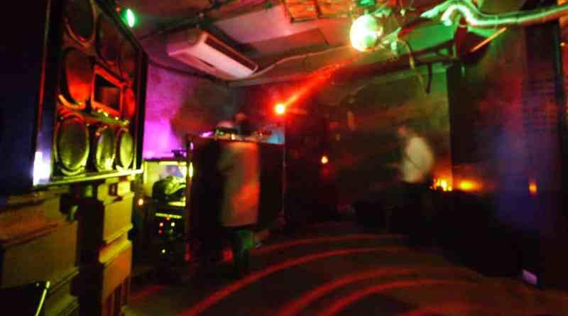 The dancefloor at Bar Edge in Hiroshima, Japan