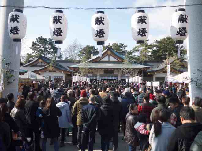 Gokoku-jinja Shrine in Hiroshima at New Year