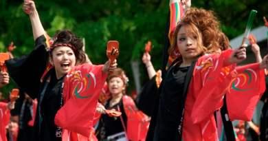 Yosakoi at the Flower Festival