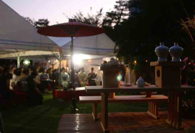 moon viewing tea ceremony at shukkei-en garden © Shukkei-en Garden
