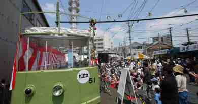 Hiroden streetcar festival
