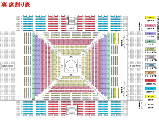 sun plaza sumo seating
