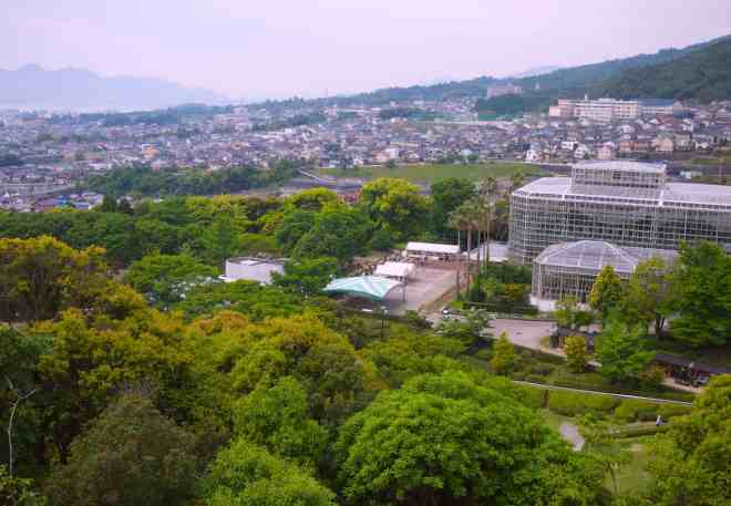 View from Hiroshima City Botanical Gardens