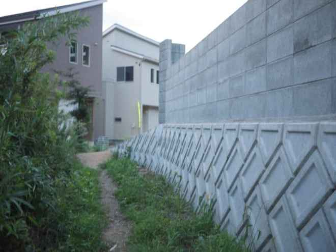 (9) Path to newly built houses