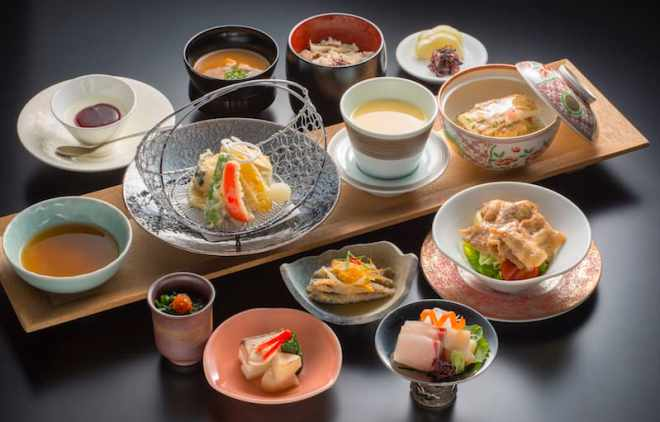 sheraton hiroshima miyabi-tei kaiseki course