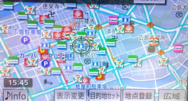 family mart all over the map, hiroshima