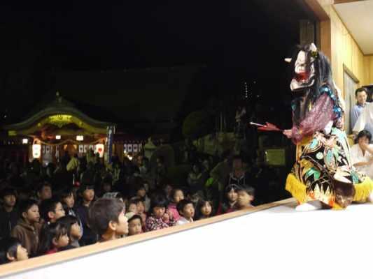 kagura at waseda shrine autumn festival