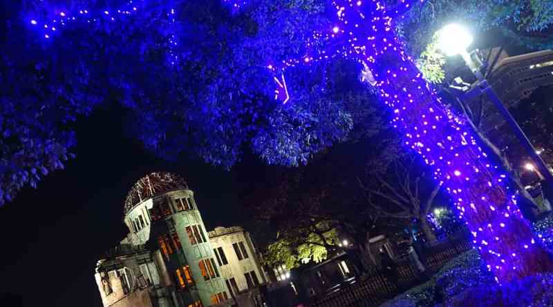 hiroshima a-bomb dome illuminations