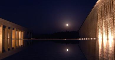 full moon at okuda genso sayme art museum