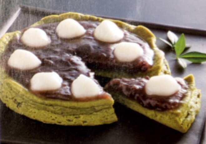 konbini winter gift green tea cheese cake