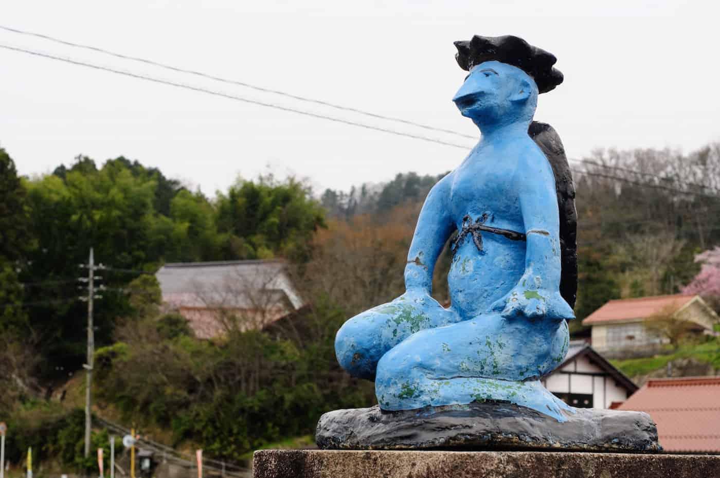 kapp on the bridge in Izuwa, Ohnan, Shimane Prefecture in Japan