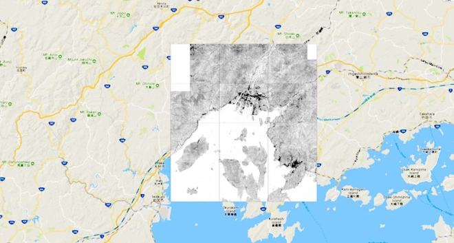 Antique hiroshima map area