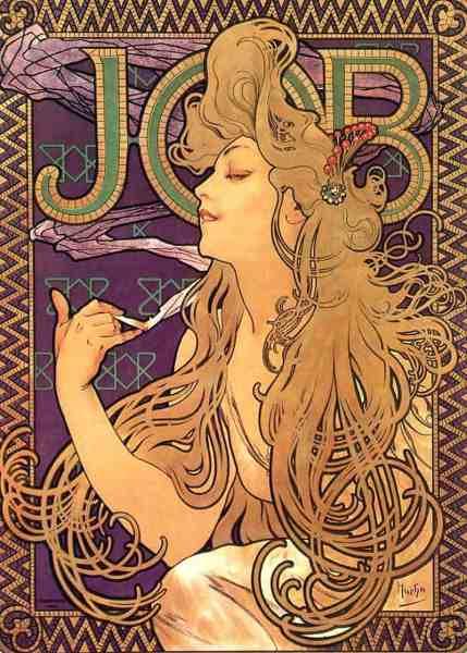 Alphonse_Mucha_-_Job_Cigarettes