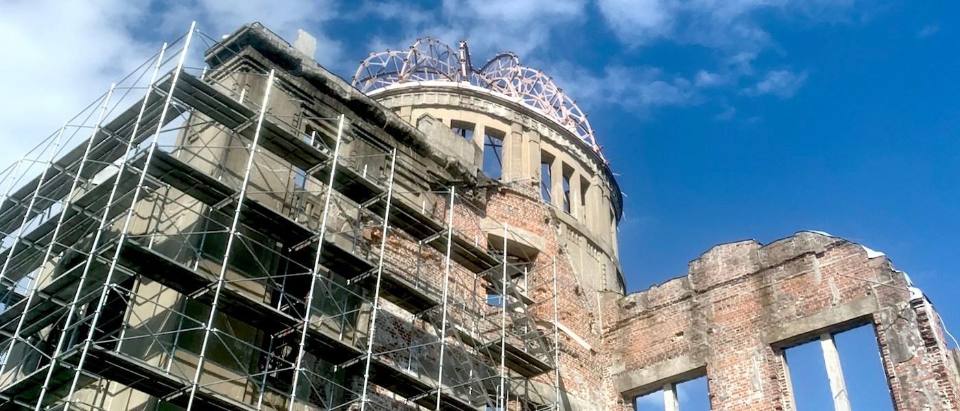 Hiroshima A-bomb Dome preservation work