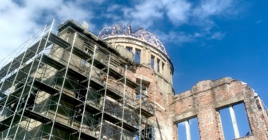 Hiroshima A-bomb Dome preservation work